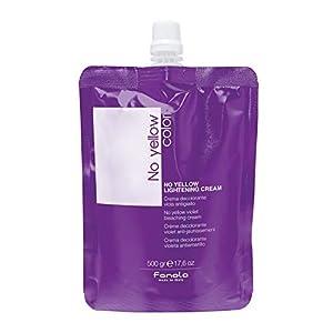 Fanola No Yellow - Crema decolorante violeta antiamarillo - Envase de 500 gr
