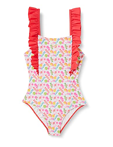ARENA G Sweetie Jr One Piece, Costume Intero Ragazza, Pink Multi-Hibiscus, 10-11