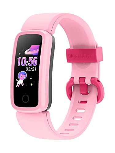 BIGGERFIVE Vigor Orologio Fitness Tracker Bambino Bambina Donna, Contapassi Smartwatch con Cardiofrequenzimetro da Polso,Impermeabile IP68 Activity Tracker con Sveglia Silenziosa