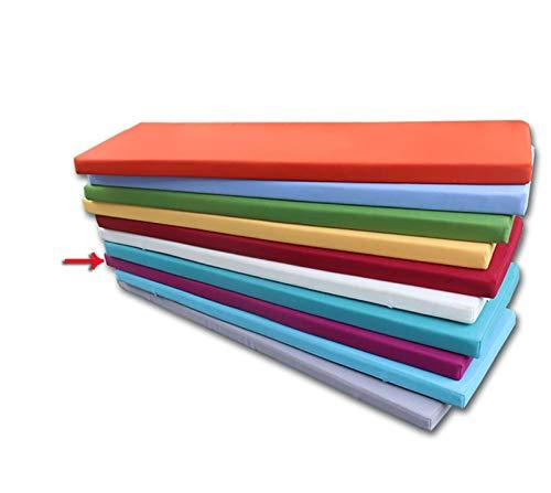 Espesar Esponja Acolchada Cojín De Banco Cojín para Banco Exterior Exterior Cojín Silla-Púrpura 80×30×5cm(31×12×2in)
