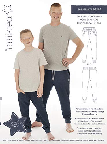 MAGAM-Stoffe Sweatpants Schnittmuster Kinder Jungen Männer inkl. Aufnäher Enno