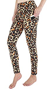 SouqFone Sexy Leopard Print Naked Feeling Yoga Pants for Running Cycling Exercise-2XL,Leopard Print