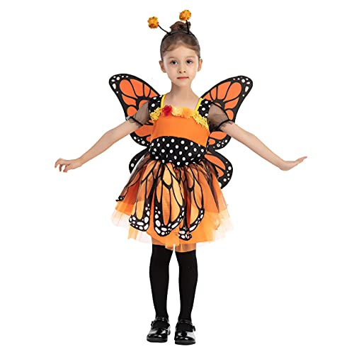 Spooktacular Creations Unique Fantasy Monarch Butterfly Costume for Kids Halloween (Toddler( 3- 4yrs ))
