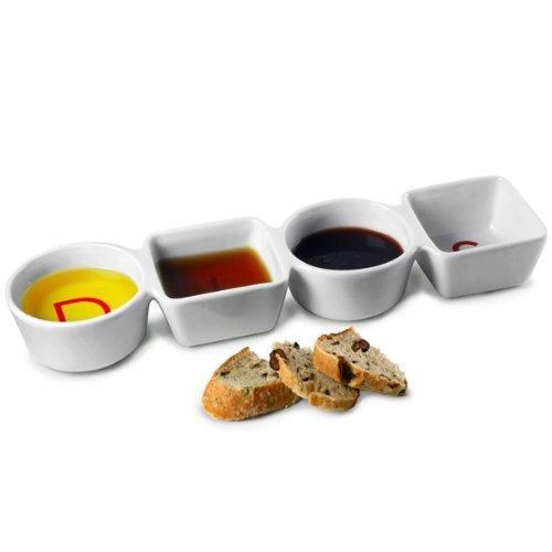 goût sauces Plats 36.5 cm | 4 Compartiments Dish, Immersion à Plats