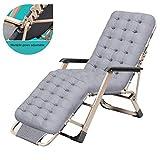 Übergroße Hochleistungs-Patio-Liegestühle mit Polsterung und klappbaren Sonnenliegen für Deck, Strand, Hof und Stütze (400 lbs.) (Farbe: Grau)