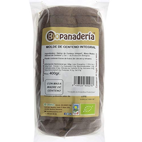 Biopanadería Pan de Molde de Centeno Integral Ecológico Elaborado con Masa Madre Natural