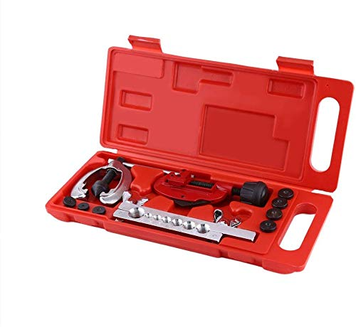 Ejoyous 10pcs Bremsleitung Bördelgerät Schlüssel Klempner Rohr Kit Bördelwerkzeug Bremsbeläge mechanisch, evasement-Tools Kit Schlauch Bremsbeläge, Bördelsatz für Bremsleitungen