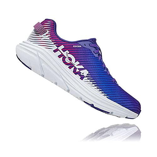 HOKA ONE ONE Women's Rincon 2 Road Running Shoe (Clematis Blue/Arctic Ice, Numeric_10)