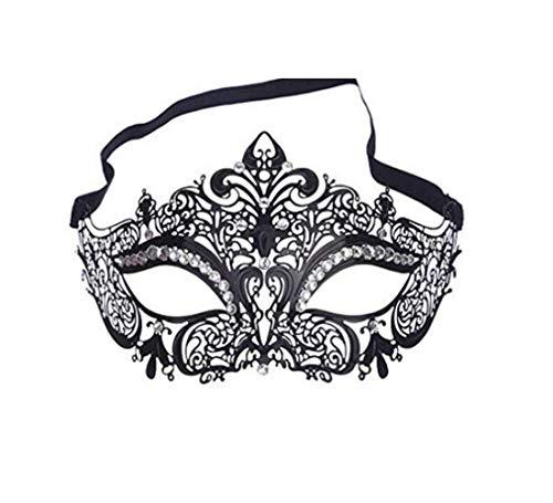 Lady of Luck Maschera Veneziana Donna Metallo Maschera Stile per Masquerade Costume Party