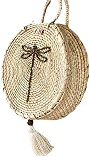 Kiki Boho   Turix Sunbag, bolsa de palma guano con una libélula de cuentas doradas