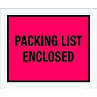 Tape Logic TLPL430 Packing List Enclosed Envelopes Full Face 10 x 12 Red (Pack of 500) [並行輸入品]