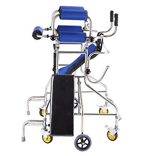 Rollator Frame Zes Wiel Rollator - Mobility Aid - Wandelen Frame Met Wielen - Opvouwbare Mobility Walker -blauw