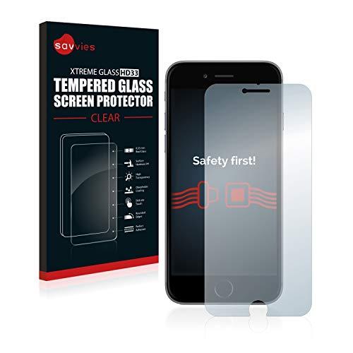 savvies Cristal Templado Compatible con iPhone 6 Plus / 6S Plus Protector Pantalla Vidrio Proteccion 9H Pelicula Anti-Huellas