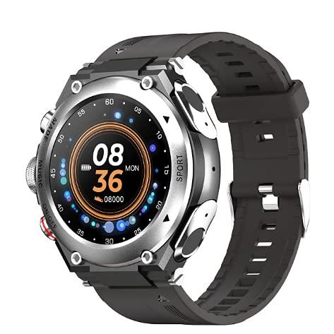 LEMFO T92 Smart Watch TWS da uomo Auricolare Bluetooth Call Orologio da uomo Pedometro Frequenza cardiaca Smart Watch per la pressione sanguigna 2021 per Android (Silver)