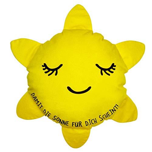 GRUSS & CO 46502 - Cuscino di peluche a forma di sole, 42 x 35 cm, colore: Giallo