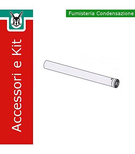 Vaillant 303203 Rallonge concentrique 80/125 mm, PP, 1000 mm