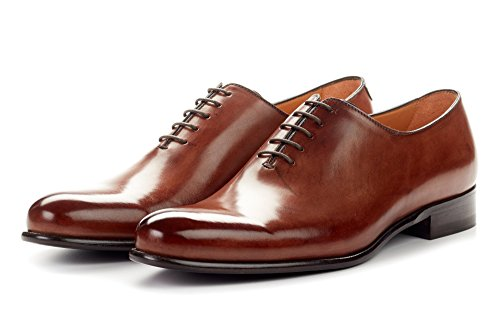 Wholecut Dress Leather Soles Shoes for Men