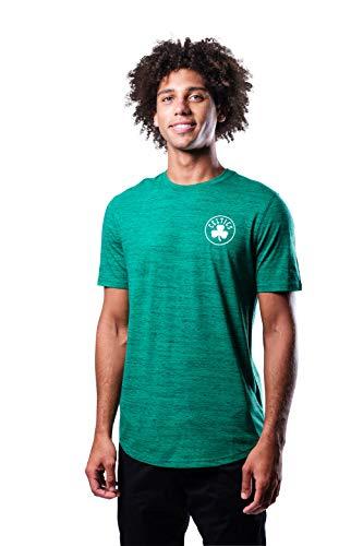 Ultra Game NBA Boston Celtics Mens Space Dye Tee Shirt, Team Color, Medium