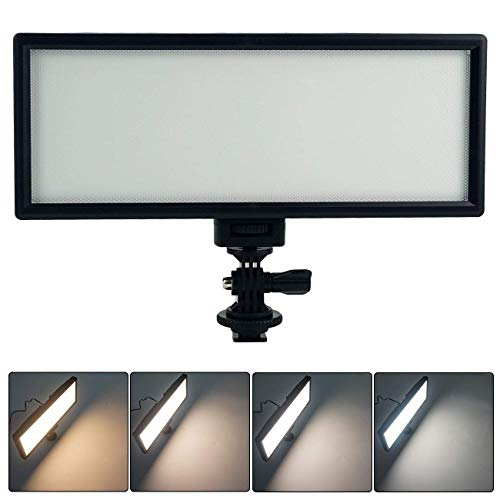 VILTROX L132T 0.78'/2cm Ultra Thin CRI95 5600K/3300K Bi-color LED Video Light Dimmable Flat Panel Light , with NP-F550 battery and charger