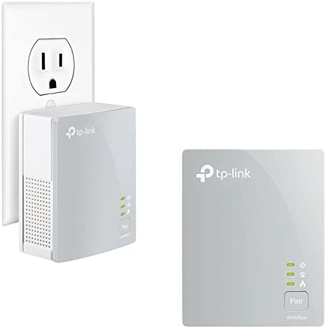 TP-Link AV600 Powerline Ethernet Adapter(TL-PA4010 KIT)- Plug&Play, Power Saving, Nano Powerline Adapter, Expand Home Network with Stable Connections