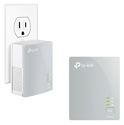 TP-Link AV600 Powerline Ethernet Adapter - Plug&Play, Power Saving, Nano Powerline Adapter, Expand Home Network with Stable Connections (TL-PA4010 KIT)