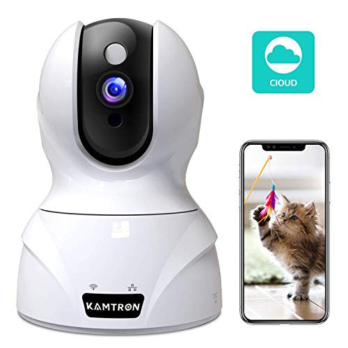 Wireless Security Camera,KAMTRON HD WiFi Security Surveillance IP Camera Home Monitor with Motion Detection Two-Way Audio Night Vision,White (G-826w)