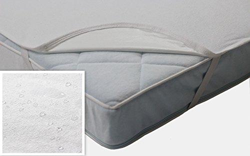 Wasserundurchlässige Baby Matratzenschoner mit 4 Gummibändern - Inkontinenz - Matratzenauflage - atmungsaktiv und wasserdicht - verschiedene Größen (90x200 cm)