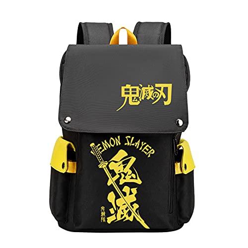 FMBK666 Zaino Demon Slayers Kamado Tanjirou Zaino Agatsuma Zenitsu Canvas Bag Laptop per Scuola di Viaggio