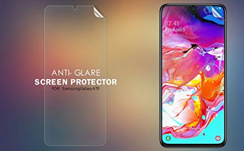 Nillkin Screen Guard for Samsung Galaxy A70 A 70 A70s A 70s Whole Set Version Matte Anti Glare Front + Camera Sticker