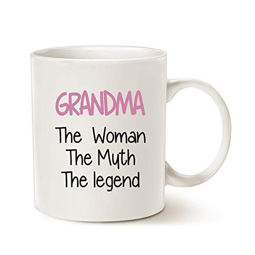 Mother's Day Grandma Coffee Mug Christmas Gifts, Grandma The Woman The Muth...