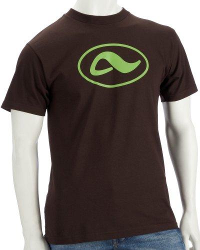 Adio Herren T-Shirt A Oval Icon Tee, Brown, M