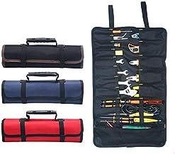 Draagbare Gereedschap Tas MASO 22 Zakken 600D Oxford Canvas Tool Roll Up Bag Grote Tote Carrier Organizer, Gemakkelijk Ops...