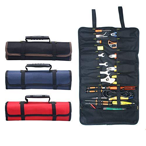 Bolsa de herramientas portátil MASO 22 bolsillos 600D Oxford lienzo herramienta enrollable bolsa gran bolsa de transporte organizador, fácil almacenamiento y portátil