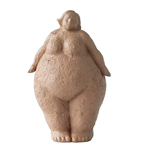 Estatuas Tao Yoga Mujer Chica Virgen Escultura Estatua estatuilla Polyresin Decoración Figura Artes Crafts Regalo de colección (Color : A)