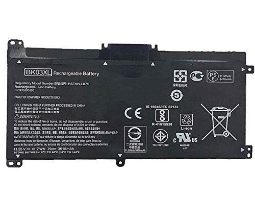 ASKC BK03XL Baterías para HP Pavilion X360 14-BA000 14M-BA000 14M-BA011DX 14M-BA013DX BA015DX BA114DX 14-ba253cl 14-ba125cl 14-ba175nr 916366-421 541 916811-855 HSTNN-LB7S UB7G TPN-W125 11.55V 41.7Wh