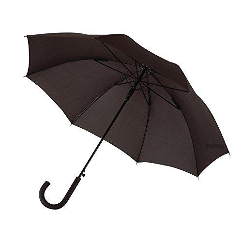 R+M Style Automatischer Stockschirm Metallstock Regenschirm in schwarz Ø103 cm Der Schirm verfügt über Schließband & Klettverschluss