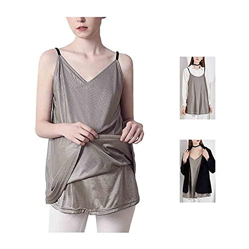 SXJC Vestido De Maternidad Antirradiación Radiación De Fibra De Plata Embarazo para Mujer Embarazada De 360 °, Ajustable Lavable Transpirable,XXL