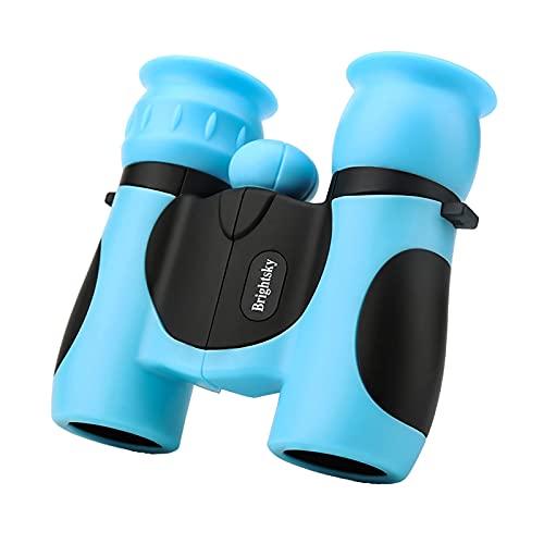 H HILABEE Binoculares compactos 8x21 para niños regalos de observación de aves Explore Educate Detect Toys Camping Travel regalos de cumpleaños - Azul
