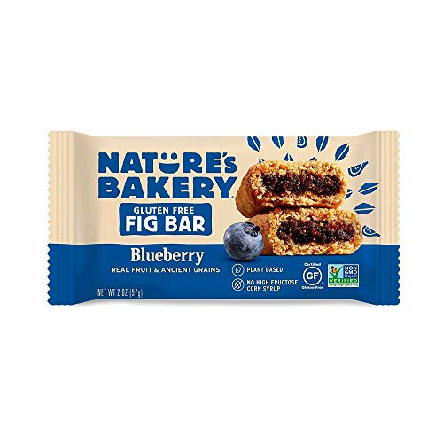 Nature's Bakery Fig Bar, Gluten Free Blueberry, (6 Count of 2 oz Packs) 12 oz