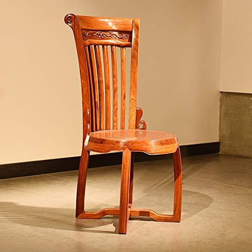 Fabric Dining Chair Holz Dining Chair High Back geschnitztem Stuhl ist kompakt Umweltfreundlich Geeignet Home Bars (Farbe : Braun, Größe : 45x45x106cm)