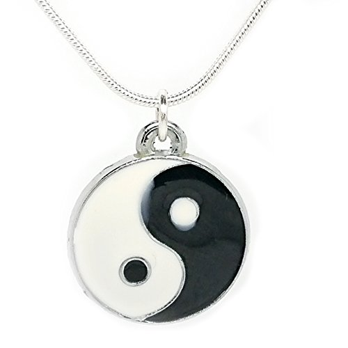 jewelleryjoy Tao Balance Symbol Slogan Awareness Pendant Charm Chain Necklace in an Organza Gift Bag (Tao)