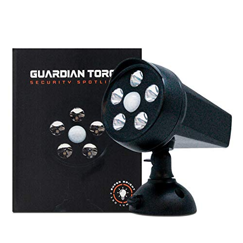 Guardian Torch - Home Security Spotlight (1-Pack) Solar Outdoor Light & Floodlight, 120° Motion Sensor, Auto On/Off, Adjustable & IP65 Water Resistant