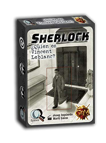 GM Games- Sherlock: ¿Quien es Vincent Leblanc Juego de investigación, Color Gris...