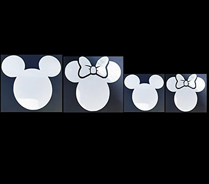 Mouse Parents Kids Family Set Of 8 Car Van Or Truck White Decal Sticker Disney Inspired Mickey Minnie All Family Styles Available