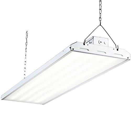 Hykolity 4FT Linear LED High Bay Light, LED Shop Light Fixture 223W 29250lm 1-10V dimmable 5000K DLC Premium [800W Fluorescent Equiv.] Motion Sensor Optional, Indoor Commercial Warehouse Area Light
