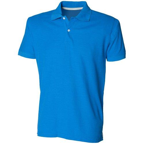 Skinni Fit - Polo à Manches Courtes - Homme (2XL) (Bleu)