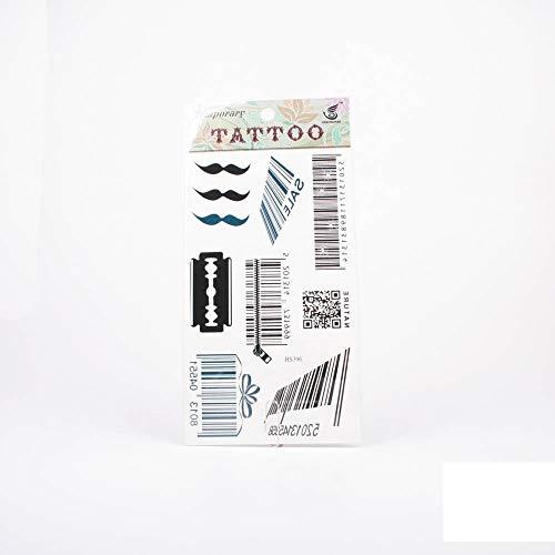 Tattoos Barcode, QR Code, Schnurrbart und Rasierklinge 01-00315