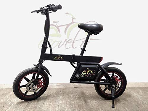 EcoVelò Bicicletta Senza Pedali ELETTRICA Pieghevole 14' 350W 25KM/H E-Bike 42V 20KM Distanza