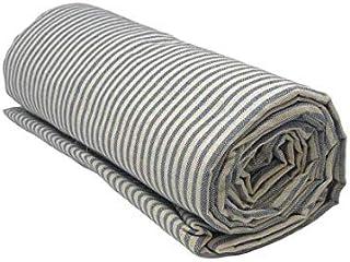 Funda decorativa para sofá a rayas en 2 tamaños – Fabricado en Italia Gran Foulard multiusos tela tuttofare cubresofá cubresillón – Gris – 160 x 280 cm