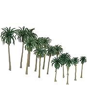 15Pcs Plastic miniatuurmodel Trees for Trains Railroad Layout landschapslandschap Accessoires Toys for Kids